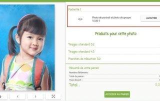 Image de l'interface parent mettant en avant la pochette de photos scolaires, illustrant le tutoriel expliquant aux photographes comment créer une pochette sur Lumys Scolaire, logiciel de photo scolaire en ligne pour les photographes professionnels en France et en Belgique