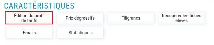Bouton d'accès de l'édition du profil de tarifs