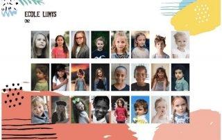 Trombinoscope de portraits scolaires proposé par Lumys Scolaire, logiciel de photo scolaire en ligne pour les photographes professionnels en France et en Belgique