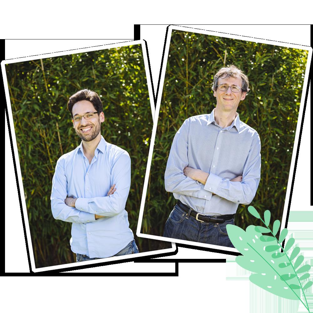 Photos de Daniel et Jérôme, co-fondateur de Lumys Scolaire, logiciel de photo scolaire en ligne pour photographes professionnels