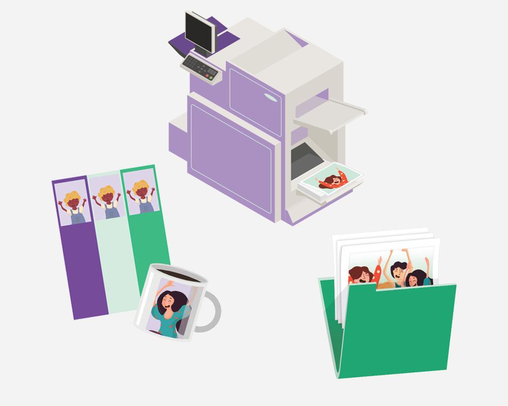 solution de photo scolaire en ligne tout en un - catalogue produits et laboratoire d'impression de photos scolaires