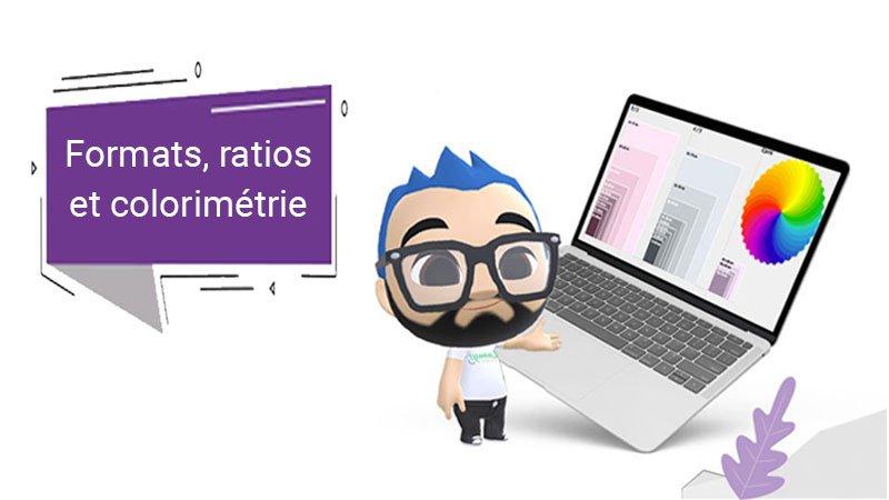 illustration du webinaire 6 sur les ratios, formats et colorimétrie animé par Lumys Scolaire, logiciel référent de vente de photos scolaires en ligne pour les photographes professionnels en France et en Belgique
